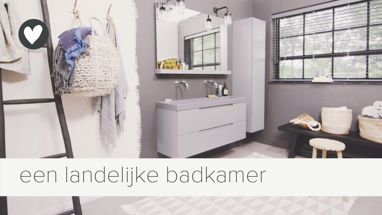 landelijke badkamer in een stoer jasje | vtwonen | tips - YouTube