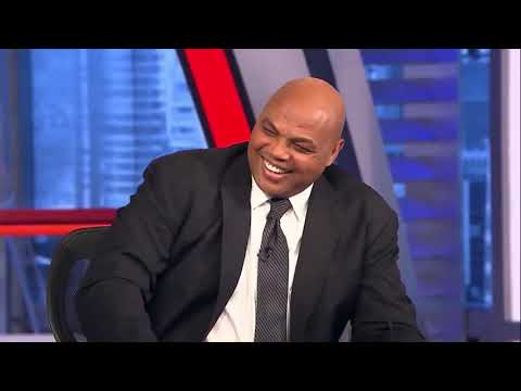 Charles Barkley cramps up on set and the crew roasts him for it