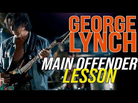 Lynch Mob Main Offender Rhythm Lesson, George Lynch - Lynch Lycks S4 Lyck 36