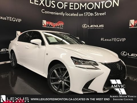 2017 Ultra White Lexus Gs 350 Awd F Sport Series 2 In Depth Review West Edmonton Alberta