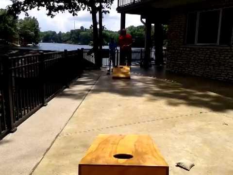 2013 July 2 - Ethan Jeff Play Corn hole Nineveh