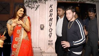 Priyanka Chopra's Boyfriend Nick Jonas Arrives At Priyanka's House For WEDDING Ring Ceremony