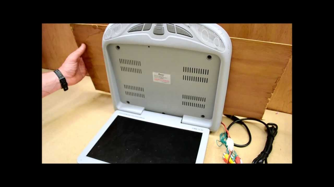 How to mount a flip down TV DVD monitor  YouTube