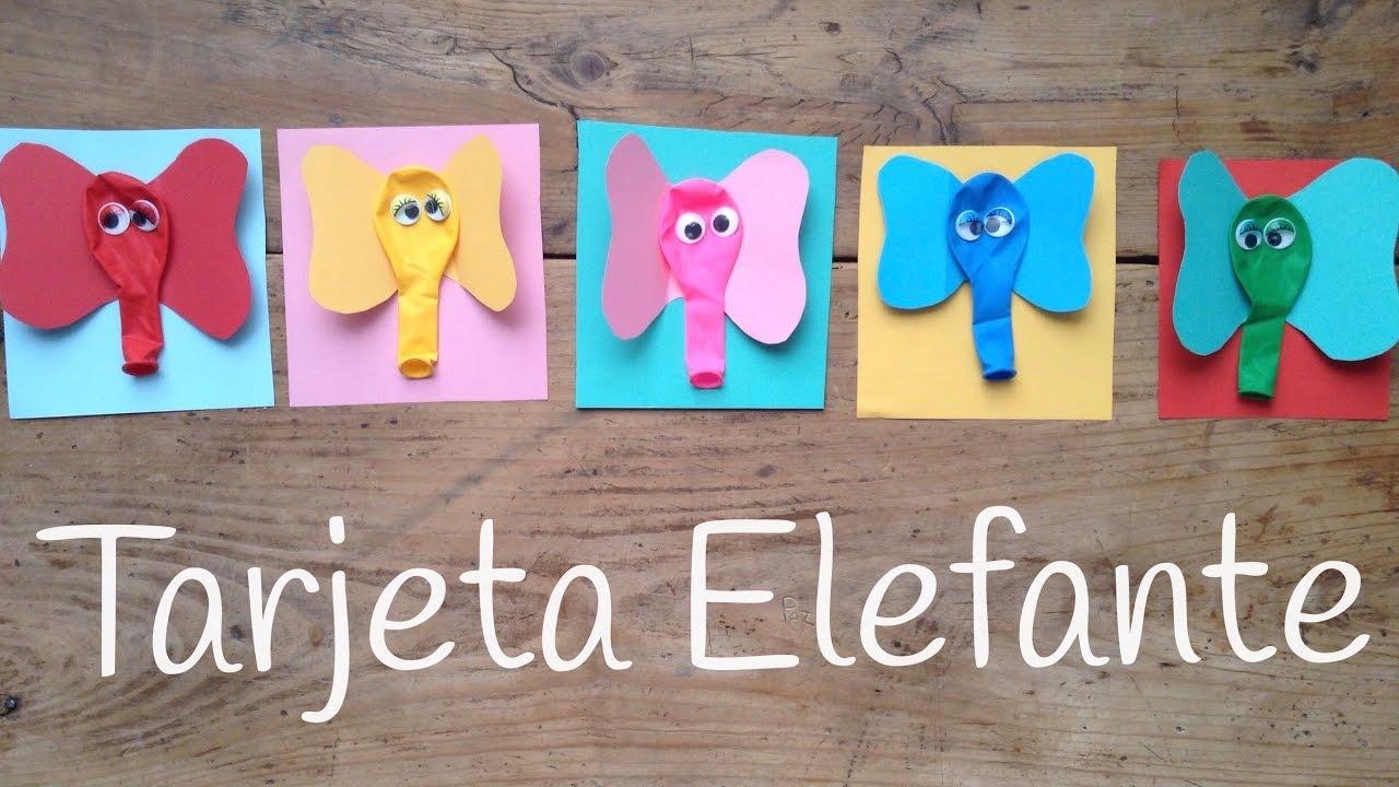 Tarjetas de cumpleaños de elefantes | Manualidades de animales ...