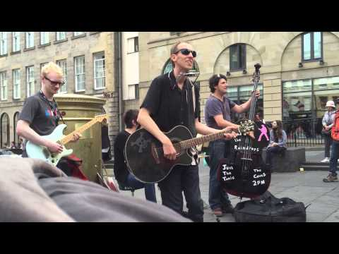 Johnny and the Raindrops playing at the Edinburgh Fringe Festival 2015