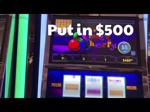 Crazy Cherry slot $5 - What a GREAT COMEBACK at Choctaw live play