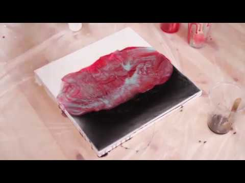 DIY Painting #6. 2 Steps Resin Painting With Acrylic Paints