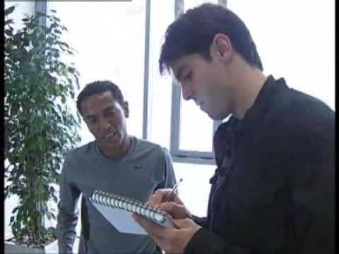 Real Madrid players meet Zarsenay Tadese in Valdebeas  [23.03.10]