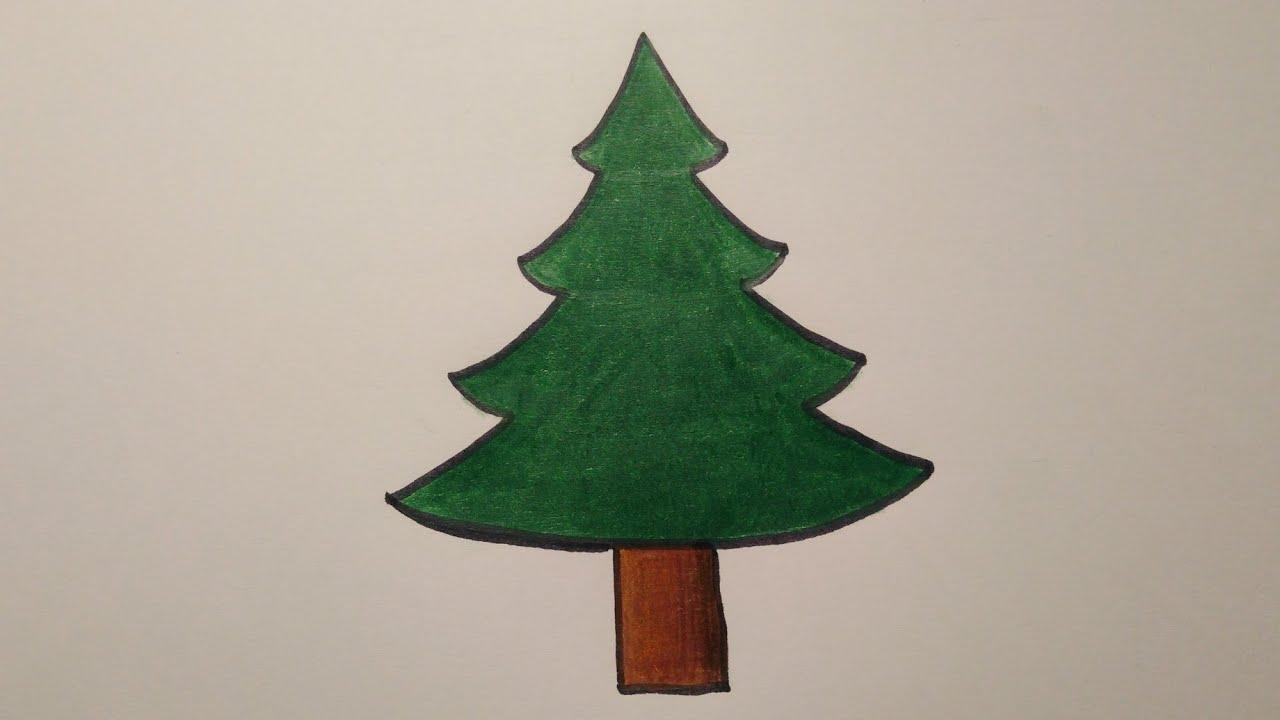 สอนวาดรูปต้นคริสต์มาส Drawing a Christmas Tree easy for beginer | My Sky Channel.