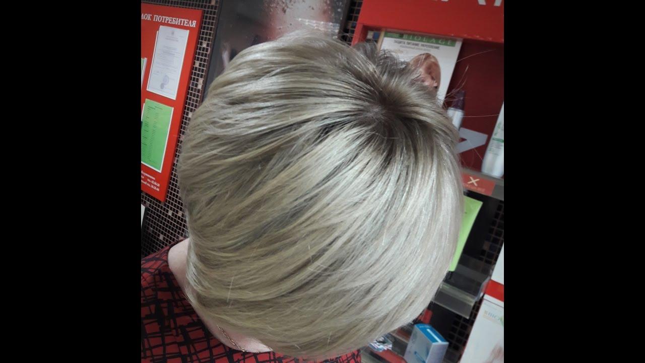 Омбре на короткие волосы...формулы - YouTube