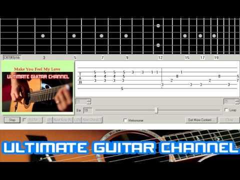 Guitar Solo Tab Make You Feel My Love Adele Youtube