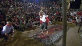 Firewalking in San Pedro Manrique, Spain