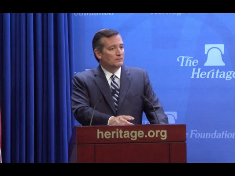 Sen. Cruz Speaks on Internet Freedom at The Heritage Foundat