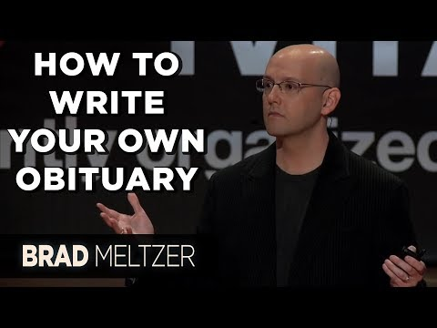 How To Write Your Own Obituary | Brad Meltzer On TEDxMIA