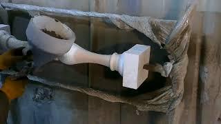 видео Балясины из бетона своими руками, формы для отливки