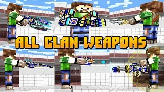 Pixel Gun 3D - ALL Clan Weapons Shots and Reloading Animations (Mythical,Legendary,Epic)