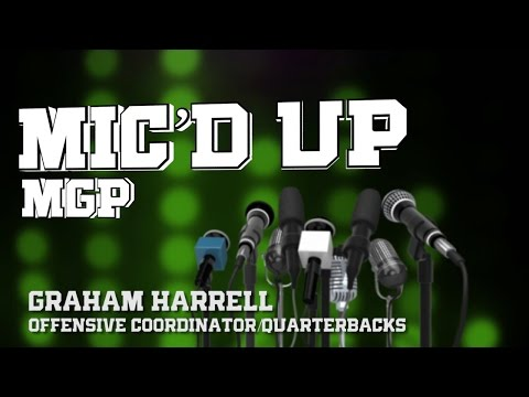 North Texas Football: Spring Camp - Graham Harrell gets Mic