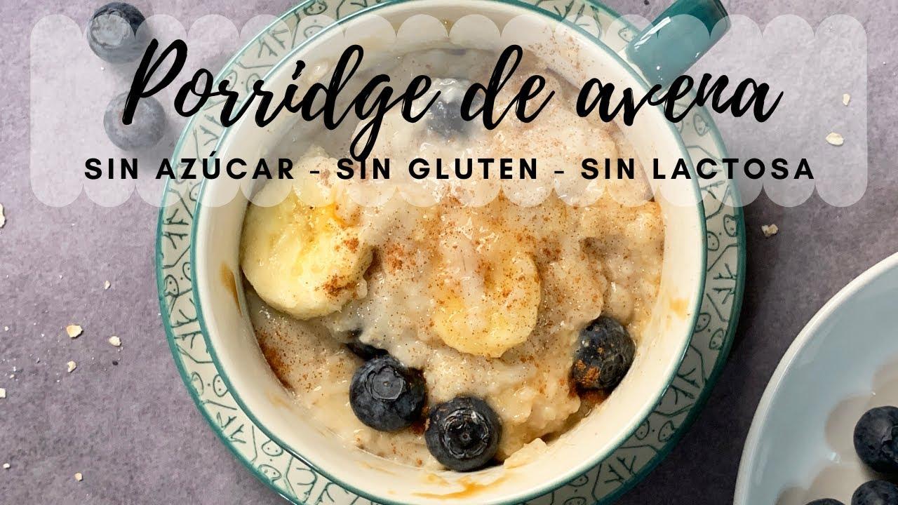 Receta de porridge de avena sin azúcar / Gachas de avena