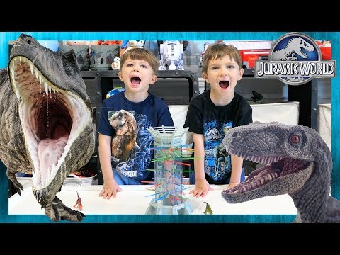 Jurassic World Fallen Kingdom Volcano. Kerplunk Dinosaur Showdown With Dinosaur Patrol