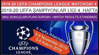 2019/20 Şampiyonlar Ligi 4. HAFTA Sonuçları-Puan Durumu, ChampionsLeague MATCHDAY4 results-standings