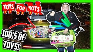 We Donated A CAR LOAD FULL Of Toys To Toys For Tots 2018!