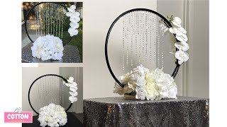 Elegant Dollar Tree Centerpiece | DIY Hula Hoop Centerpiece | Wedding | Bridal Shower | Baby Shower