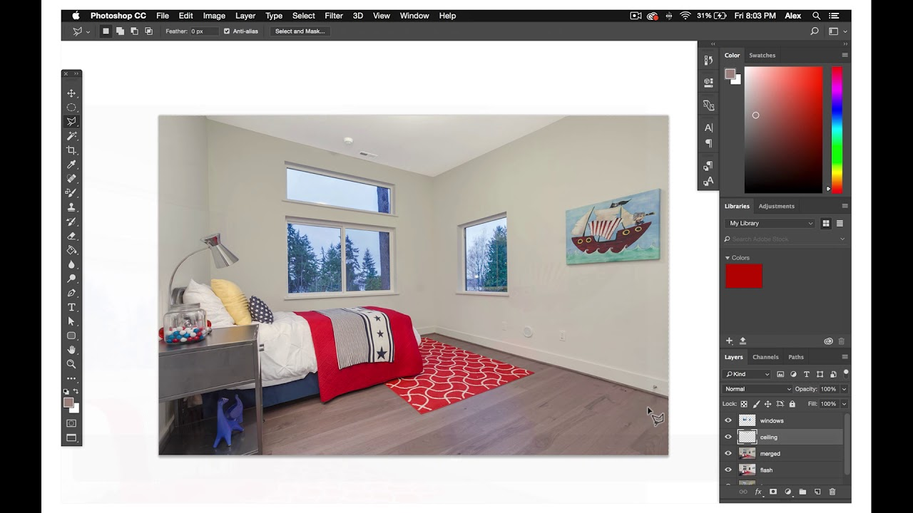 How to master removing color casts from real estate photos