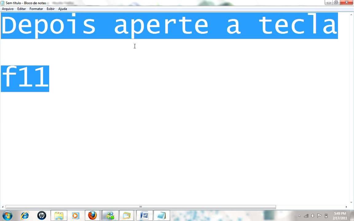 32c8d1e44a ensinando a como usa o modo tela cheia no seu navegador - YouTube