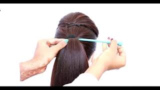 easy hairstyle using bun stick   hairstyle for summer   cute hairstyles   sim