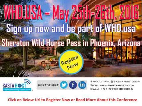 WHD.usa – May 25-26, 2016 Register Now