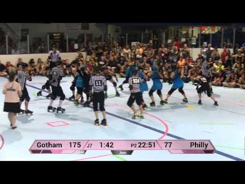 WFTDA Roller Derby: Philly Roller Girls vs Gotham Girls Roller Derby - ECDX 2014