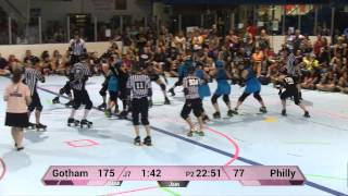 WFTDA Roller Derby: Philly Roller Girls vs Gotham Girls Roller Derby - ECDX 2014