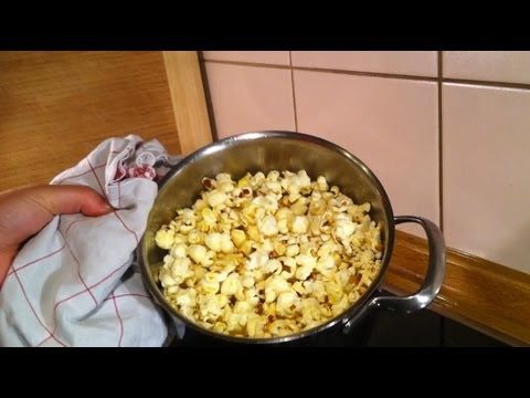 popcorn selber machen im kochtopf ein rezept youtube. Black Bedroom Furniture Sets. Home Design Ideas