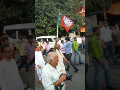 """BJP'S OCCUPY ALIMUDDIN STREET """"MINI MICHIL"""" AT MOULALI"""