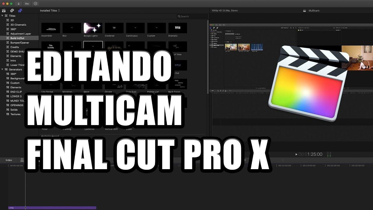 Tutorial MULTICAMERA - Gravar e editar com multiplas câmeras - Final Cut Pro X
