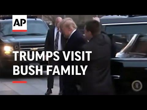 Trumps visit Bush family at Blair House