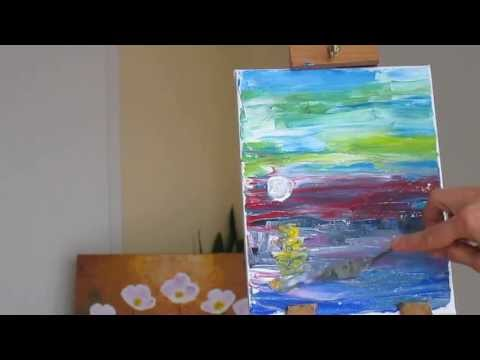 Tanja Bell  How to Paint Boat Acrylic Painting Landscape Palette Knife Part1 Demo Tutorial