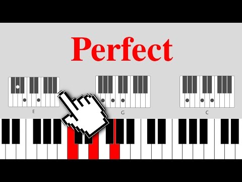 Perfect - Ed Sheeran on piano [EASY CHORDS]