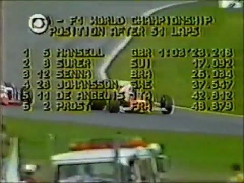 GP da Europa de 1985 : ABANDONO ! Marc Surer da Brabham (p6)