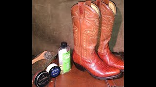 Montana Boots Lizard Skin Upper Treatment and Care