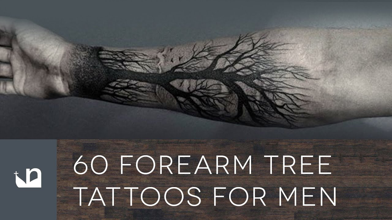 forearm tree tattoos men