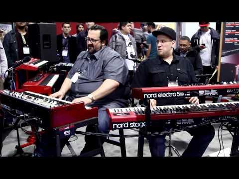 Nord at NAMM Show 2015 - Robi Botos, Joey DeFrancesco, Rachel Flowers
