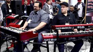 Nord at NAMM Show 2015 - Robi Botos, Joey DeFrancesco, Rachel Flowers