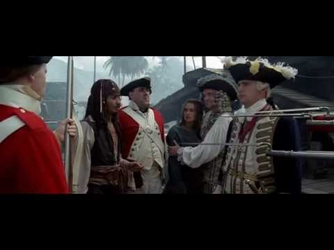 Pirates Of The Caribbean - 1 The Curse Of The Black Pearl (2003) starring Johnny Depp funny scene HQ