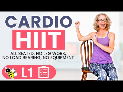 20 Minute ALL ARMS Seated Cardio HIIT Workout | NO Leg Work, NO Load Bearing