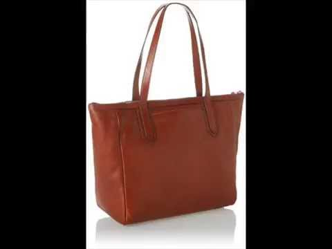 Fossil Sydney Shopper Shoulder Bag - YouTube