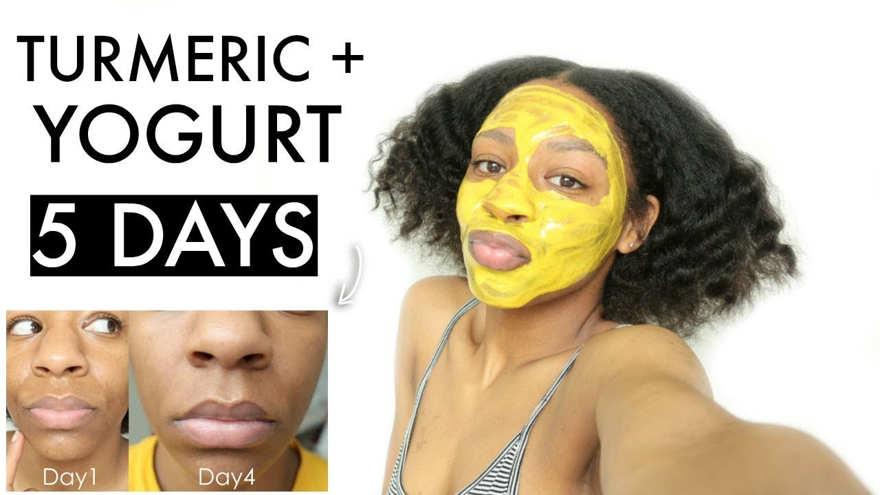 I Used a DIY Turmeric Yogurt Face Mask for 5 DAYS & THIS ...