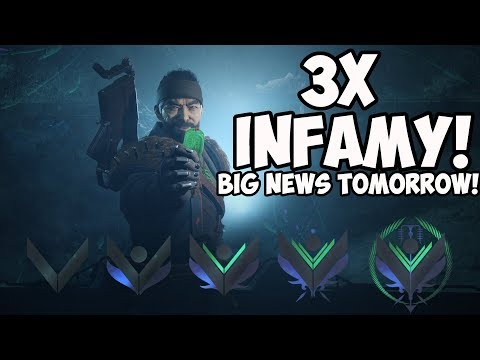 Destiny 2 | HUGE News Coming Tomorrow! Grinding Triple Infamy for Dredgen! thumbnail