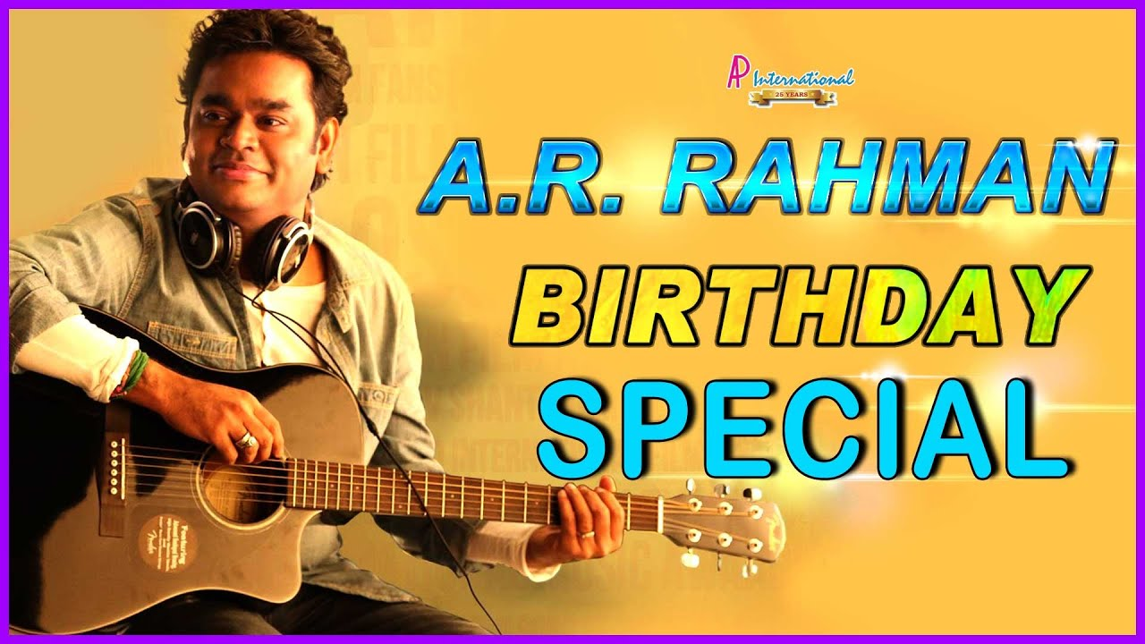 AR Rahman Tamil Movie Songs | Birthday Special Jukebox | Alaipayuthe ...