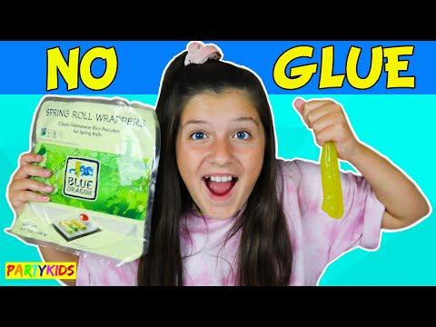 DIY RICE PAPER NO GLUE SLIME!!  TESTING NO GLUE SLIME!